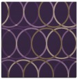 rug #706097 | square purple circles rug