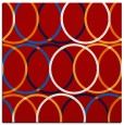 rug #706105 | square red retro rug