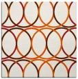 rug #706133 | square red-orange rug