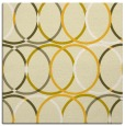 rug #706153 | square yellow retro rug