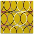 rug #706165 | square yellow retro rug