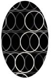 rug #706221 | oval white geometry rug