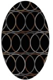 rug #706225 | oval black circles rug