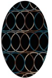 rug #706233 | oval brown retro rug