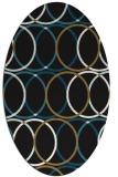 rug #706237 | oval black circles rug