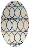 rug #706241 | oval blue-green circles rug