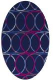 rug #706245 | oval pink retro rug