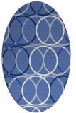 rug #706257   oval blue retro rug