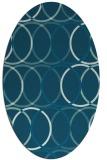 rug #706269   oval blue-green circles rug