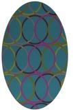 rug #706281 | oval blue-green popular rug