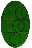 rug #706285 | oval green popular rug