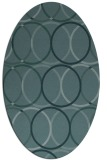 rug #706289 | oval blue-green circles rug