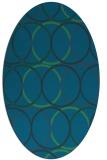 rug #706297 | oval blue rug