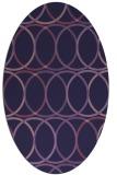 rug #706313 | oval purple circles rug