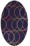 rug #706325 | oval blue-violet circles rug