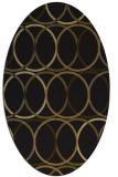rug #706333 | oval mid-brown retro rug