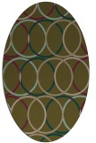 rug #706337 | oval brown retro rug