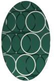 rug #706349 | oval green geometry rug