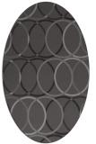 rug #706365 | oval brown circles rug