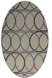 rug #706397 | oval purple circles rug