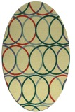 rug #706421 | oval yellow rug