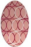 rug #706437 | oval white retro rug