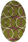 rug #706448 | oval circles rug