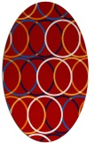 rug #706457 | oval red circles rug
