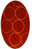rug #706461 | oval red circles rug