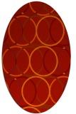 rug #706461 | oval orange circles rug