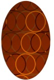 rug #706473 | oval red-orange geometry rug
