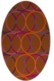 rug #706481 | oval red-orange geometry rug