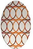 rug #706485 | oval red-orange circles rug