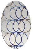 rug #706497   oval blue retro rug