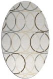rug #706501 | oval beige geometry rug