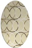 rug #706509 | oval white geometry rug