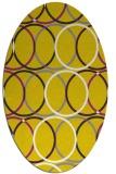 rug #706517 | oval white retro rug