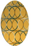 rug #706521 | oval light-orange retro rug