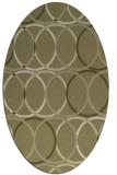 rug #706541 | oval light-green rug