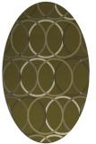 rug #706549 | oval light-green circles rug