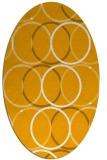 rug #706553 | oval light-orange circles rug