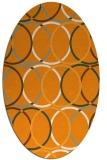 rug #706561 | oval light-orange popular rug