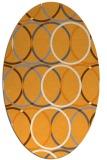 rug #706565   oval light-orange circles rug