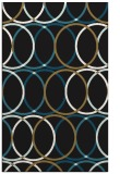 rug #706589 |  mid-brown circles rug