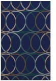 rug #706601 |  blue circles rug
