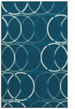 rug #706621 |  blue-green circles rug