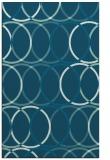 rug #706621 |  blue-green retro rug