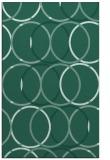 rug #706625 |  blue-green retro rug