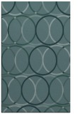 rug #706641 |  blue-green retro rug