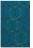 rug #706649 |  blue-green retro rug
